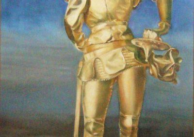 Statua d'oro di San Michele Arcangelo